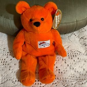 NWT NFL John Elway Broncos Beanie Bear